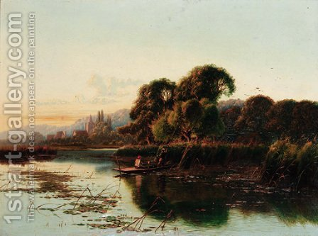 An autumn morning, Streatley-on-Thames by Henry John Boddington - Reproduction Oil Painting