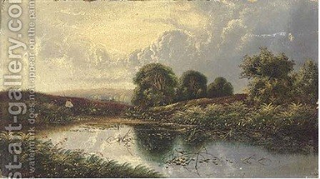Near Guildford, Surrey by Henry John Boddington - Reproduction Oil Painting