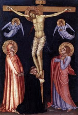 Medieval & Gothic Art painting reproductions: Crucifixion  1370