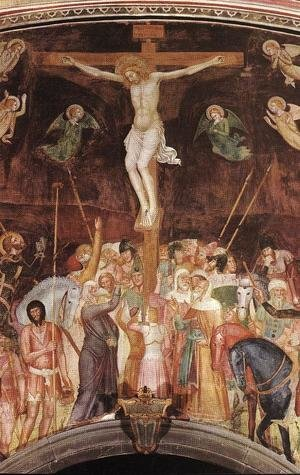 Medieval & Gothic Art painting reproductions: Crucifixion (detail)