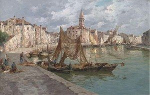 Reproduction oil paintings - Ferdinando Silvani - Burano, Venice