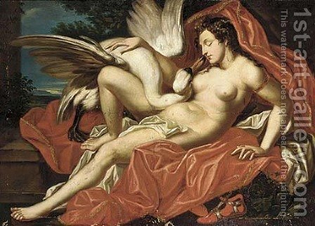 Leda and the Swan by (after) Abraham Janssens Van Nuyssen - Reproduction Oil Painting