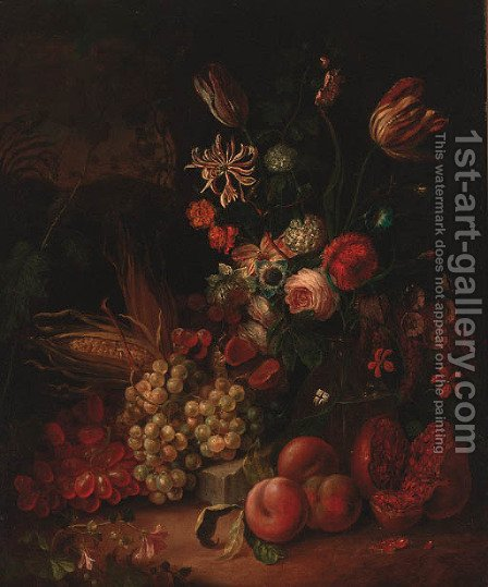 Flowers by (after) Abraham Mignon - Reproduction Oil Painting