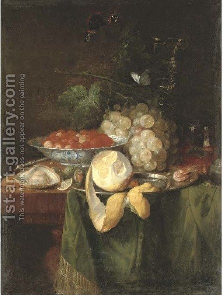 Fruits by (after) Abraham Hendrickz Van Beyeren - Reproduction Oil Painting