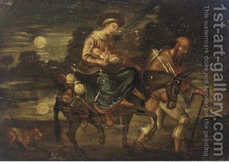 The Flight into Egypt by (after) Adam Elsheimer - Reproduction Oil Painting