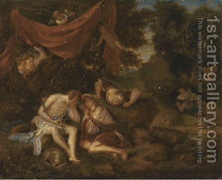 Diana and Endymion by (after) Adriaen Van Der Werff - Reproduction Oil Painting