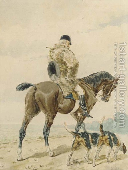 Out hunting by (after) Alfred Dedreux - Reproduction Oil Painting