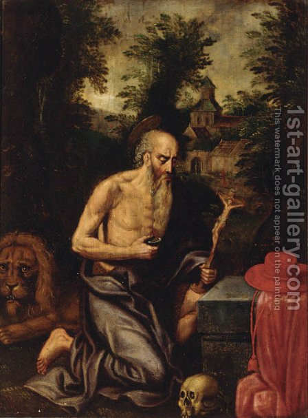 Saint Jerome by (after) Ambrosius Benson - Reproduction Oil Painting