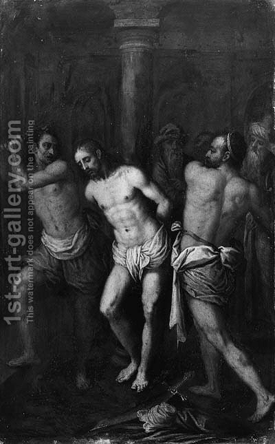The Mocking of Christ by (after) Ambrosius Francken - Reproduction Oil Painting