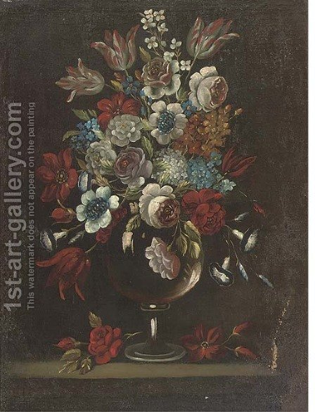 Flowers by (after) Andrea Belvedere - Reproduction Oil Painting