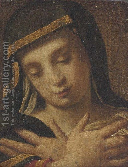 The head of a sibyl by (after) Andrea Procaccini - Reproduction Oil Painting