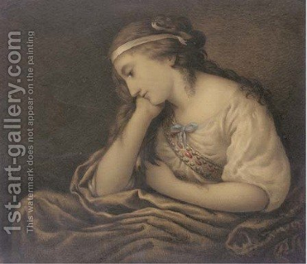 Thoughts by (after) Kauffmann, Angelica - Reproduction Oil Painting