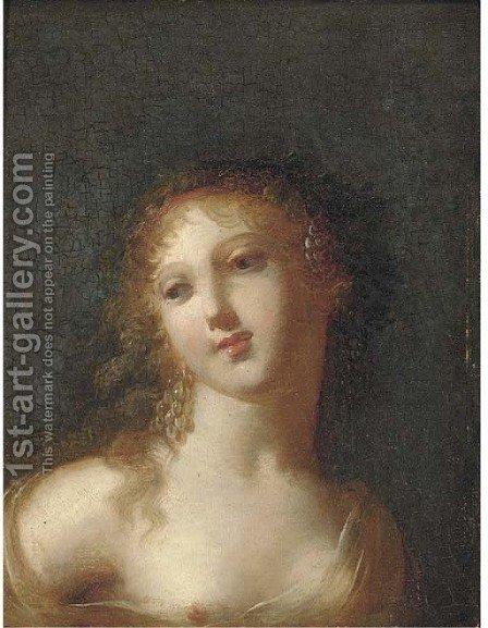 Study of a classical maiden by (after) Kauffmann, Angelica - Reproduction Oil Painting