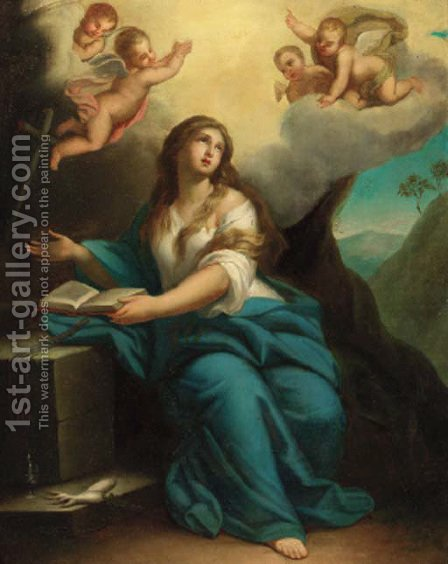 The Penitent Magdalen by (after) Mengs, Anton Raphael - Reproduction Oil Painting