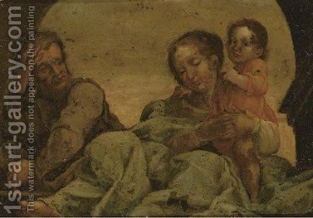The Rest on the Flight into Egypt by (after) Correggio, (Antonio Allegri) - Reproduction Oil Painting