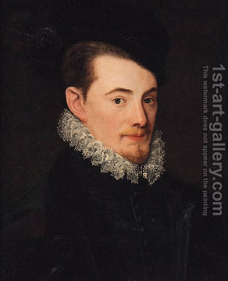 Portrait of a gentleman by (after) Anthonis Mor Van Dashorst - Reproduction Oil Painting