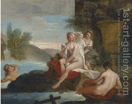 Diana and her nymphs bathing by (after) Bon De Boulogne - Reproduction Oil Painting
