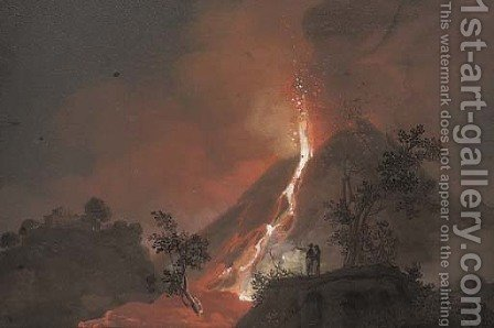 An eruption from 1804 by (after) Camillo Da Vito - Reproduction Oil Painting