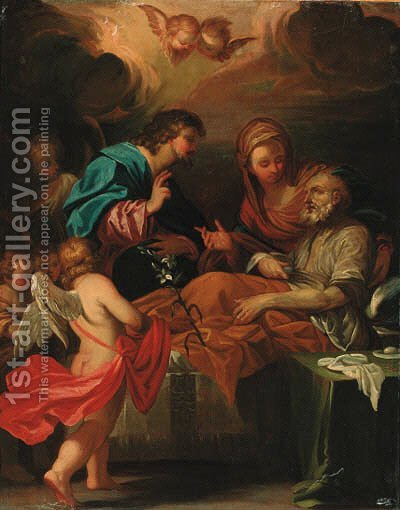 The death of Saint Joseph by (after) Carlo Maratta Or Maratti - Reproduction Oil Painting