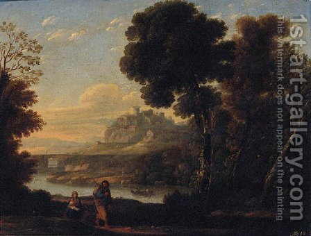 The Rest on the Flight into Egypt 2 by (after) Claude Lorrain (Gellee) - Reproduction Oil Painting