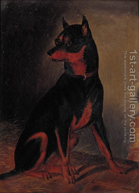 A Manchester terrier by (after) Colin Graham Roe - Reproduction Oil Painting