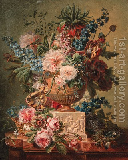 Flowers by (after) Cornelis Van Spaendonck - Reproduction Oil Painting
