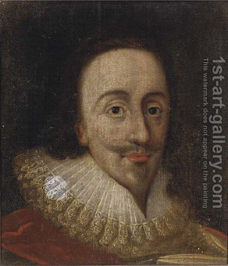 Portrait of a gentleman, thought to be King Charles I (1600-1649) by (after) Daniel Mytens - Reproduction Oil Painting