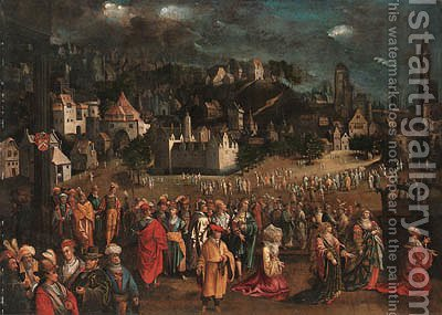 The Idolatry of Solomon by (after) David Vinckboons - Reproduction Oil Painting