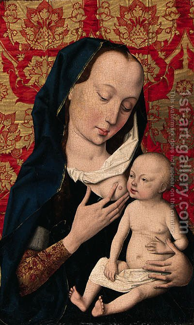 The Virgin and Child by (after) Dieric The Elder Bouts - Reproduction Oil Painting