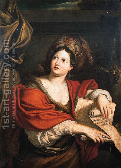 The Cumaean Sibyl 3 by (after) Domenichino (Domenico Zampieri) - Reproduction Oil Painting