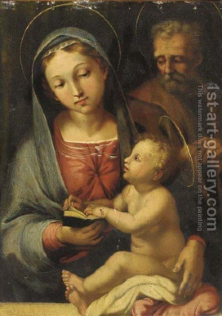 The Holy Family by (after) Domenico Beccafumi - Reproduction Oil Painting