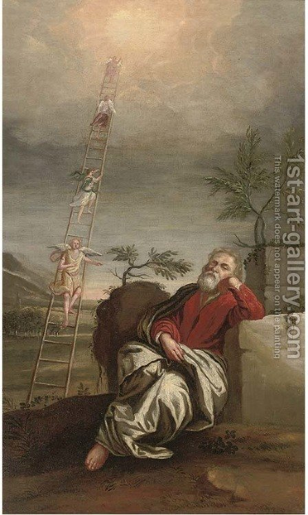 Jacob's Ladder by (after) Domenico Fetti - Reproduction Oil Painting