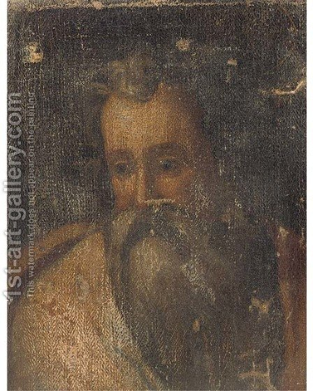 A male Saint by (after) Domenico Tintoretto (Robusti) - Reproduction Oil Painting