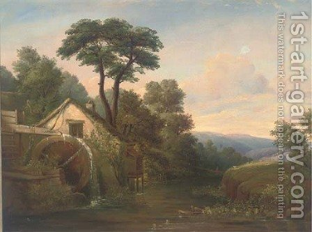 The watermill by (after) Edward Williams - Reproduction Oil Painting