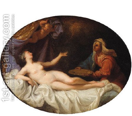 Danae by (after) Eustache Le Sueur - Reproduction Oil Painting