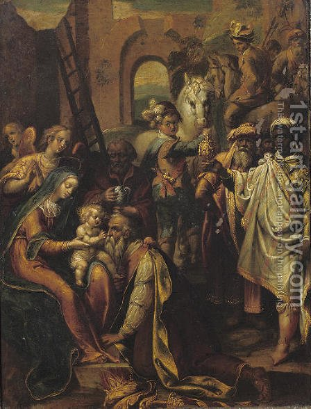 The Adoration of the Magi by (after) Federico Zuccaro - Reproduction Oil Painting