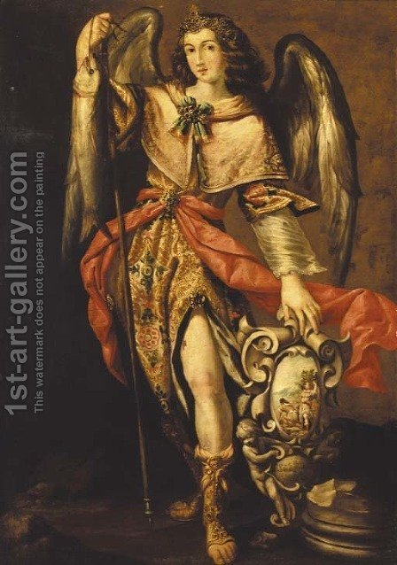 The Archangel Raphael by (after) Francisco Ribalta - Reproduction Oil Painting