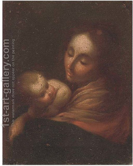 The Madonna and Child 2 by (after) Francesco Solimena - Reproduction Oil Painting