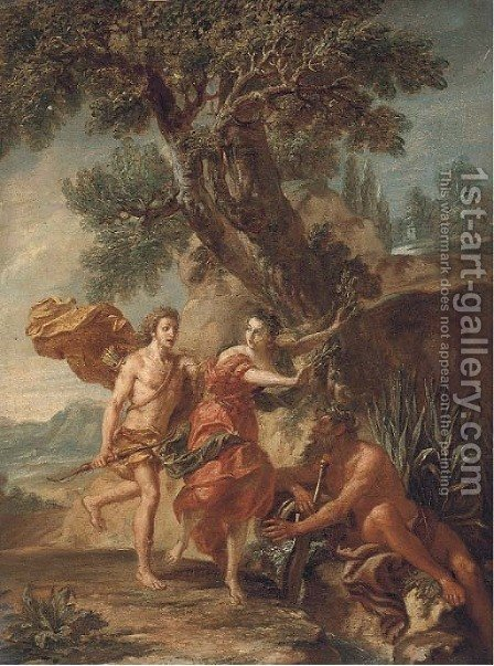 Daphne and Apollo by (after) Francesco Zuccarelli - Reproduction Oil Painting