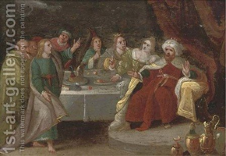 Belshazzar's Feast 5 by (after) Frans II Francken - Reproduction Oil Painting