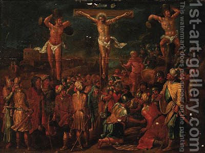 The Crucifixion by (after) Frans II Francken - Reproduction Oil Painting