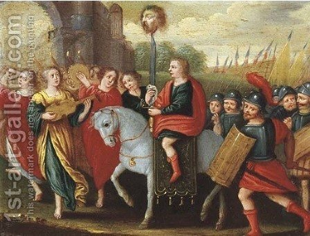 The Triumph of David by (after) Frans II Francken - Reproduction Oil Painting