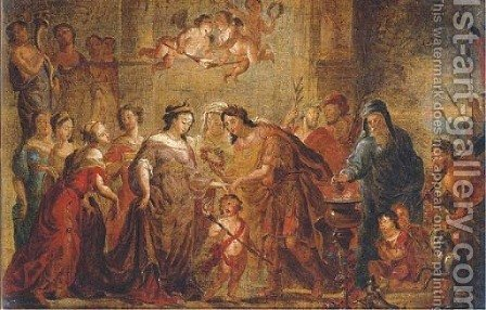 The marriage of Scipio by (after) Gerard De Lairesse - Reproduction Oil Painting