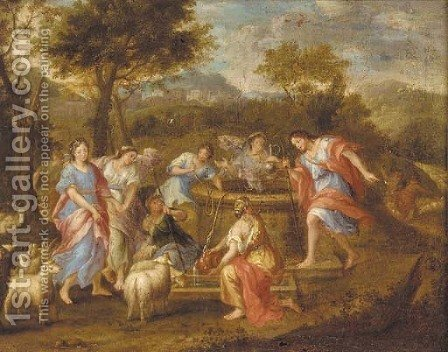Rebecca and Eliezer at the well by (after) Gerard De Lairesse - Reproduction Oil Painting