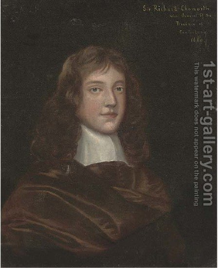 Portrait of Sir Richard Chaworth by (after) Gerard Soest - Reproduction Oil Painting