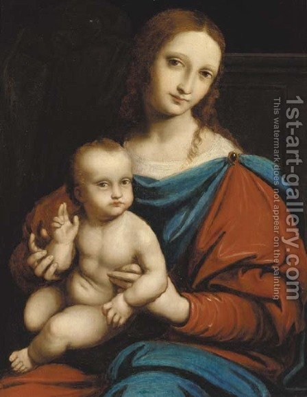 The Madonna and Child by (after) Gianpietrino Ricci Or Pedrini - Reproduction Oil Painting
