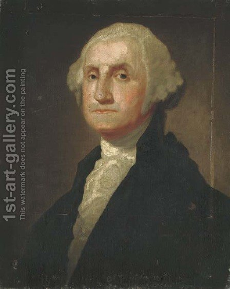 Portrait of a George Washington by (after) Gilbert Stuart - Reproduction Oil Painting