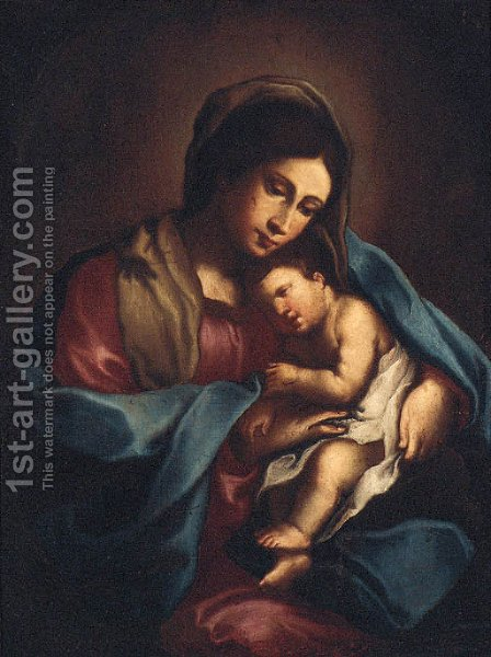 The Madonna and Child by (after) Giovanni Francesco Guercino (BARBIERI) - Reproduction Oil Painting