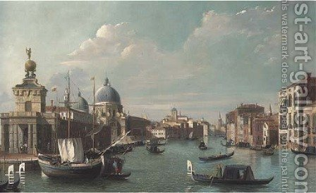 The entrance to the Grand Canal, Venice by (after) (Giovanni Antonio Canal) Canaletto - Reproduction Oil Painting
