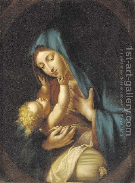 The Madonna and Child by (after) Giovanni Battista Salvi, Il Sassoferato - Reproduction Oil Painting